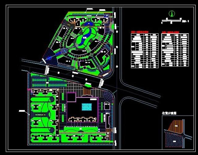 城市商业综合体规划总平面图(hopsca)