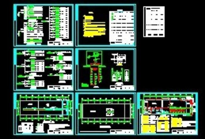某冷库电气设计平面及系统