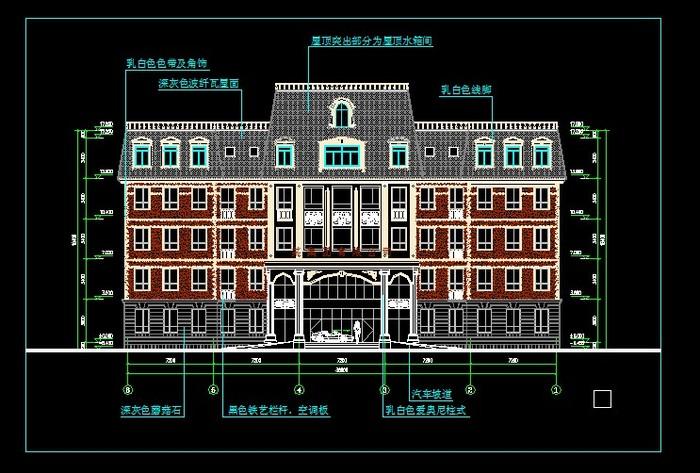 欧式别墅建筑外立面