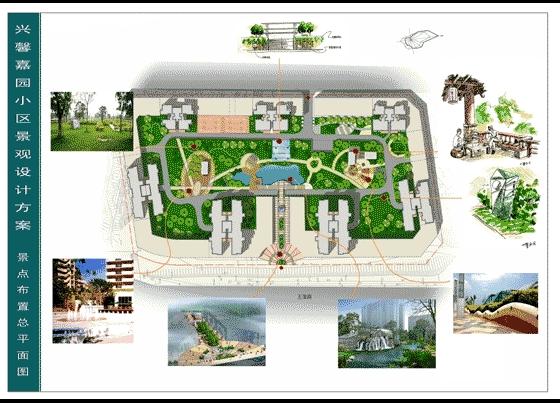 图纸 园林设计图  园林景观效果图  园林景观立面效果图(立面效果图)