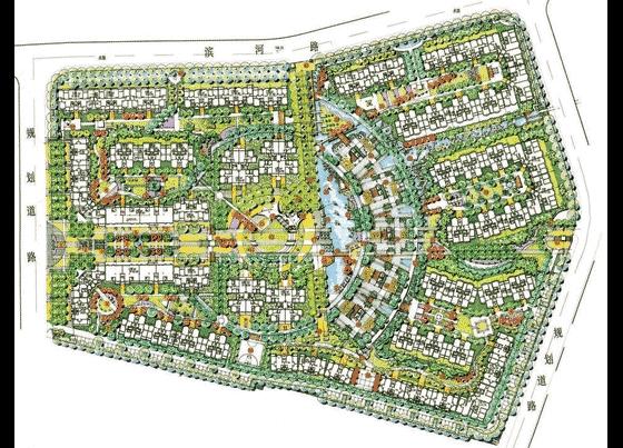 居住小区规划设计手绘图