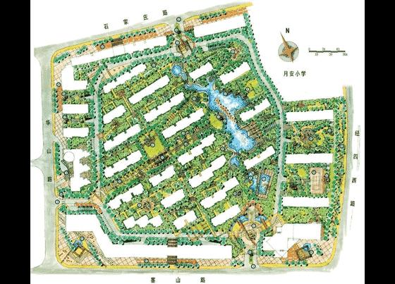 园林景观手绘图 南京奥林匹克广场设计图纸