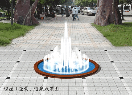 4         含喷泉立面图,平面布置图,水池剖面图,穿线管示意图,喷泉