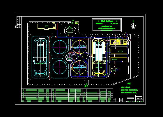 某城市污水处理厂总平面设计