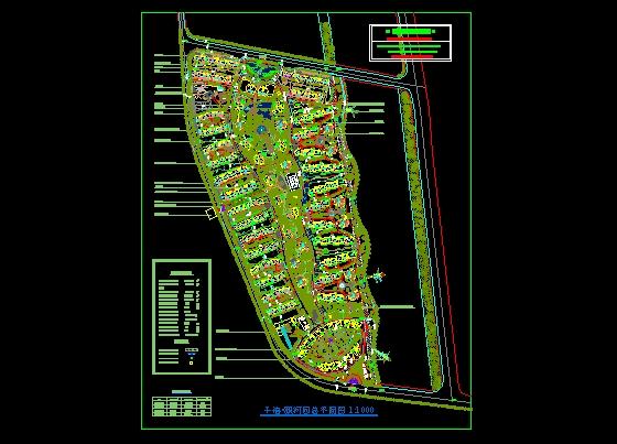 颐和园手绘平面图植物景观配置
