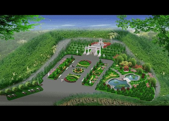 某豪华墓地园林景观设计效果图