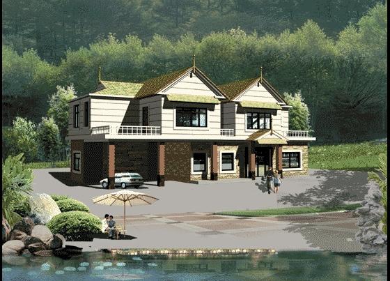 私人别墅大门效果图 私人庭院大门效果图 私人会所设计效果图 私人