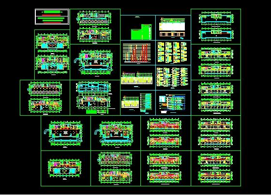 某市空港办公楼平面图