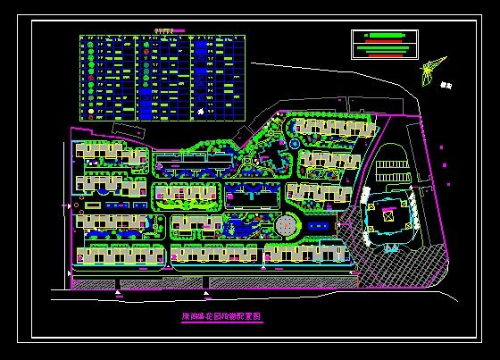 屋顶花园植物配置 变压器保护配置图 家庭影院配置图 植物配置立面图