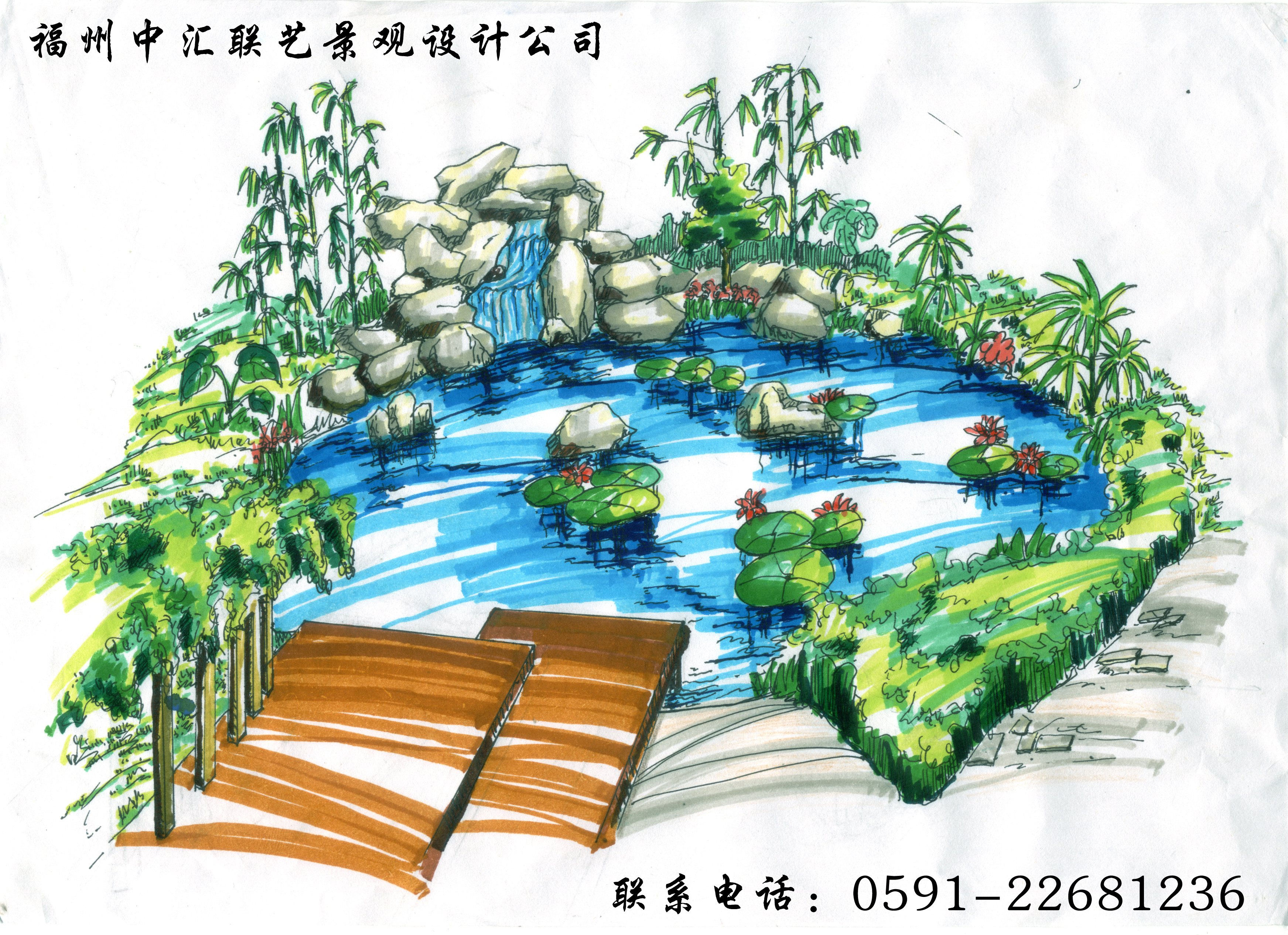 手绘图花坛设计手绘图展馆设计手绘图水景设计手绘图