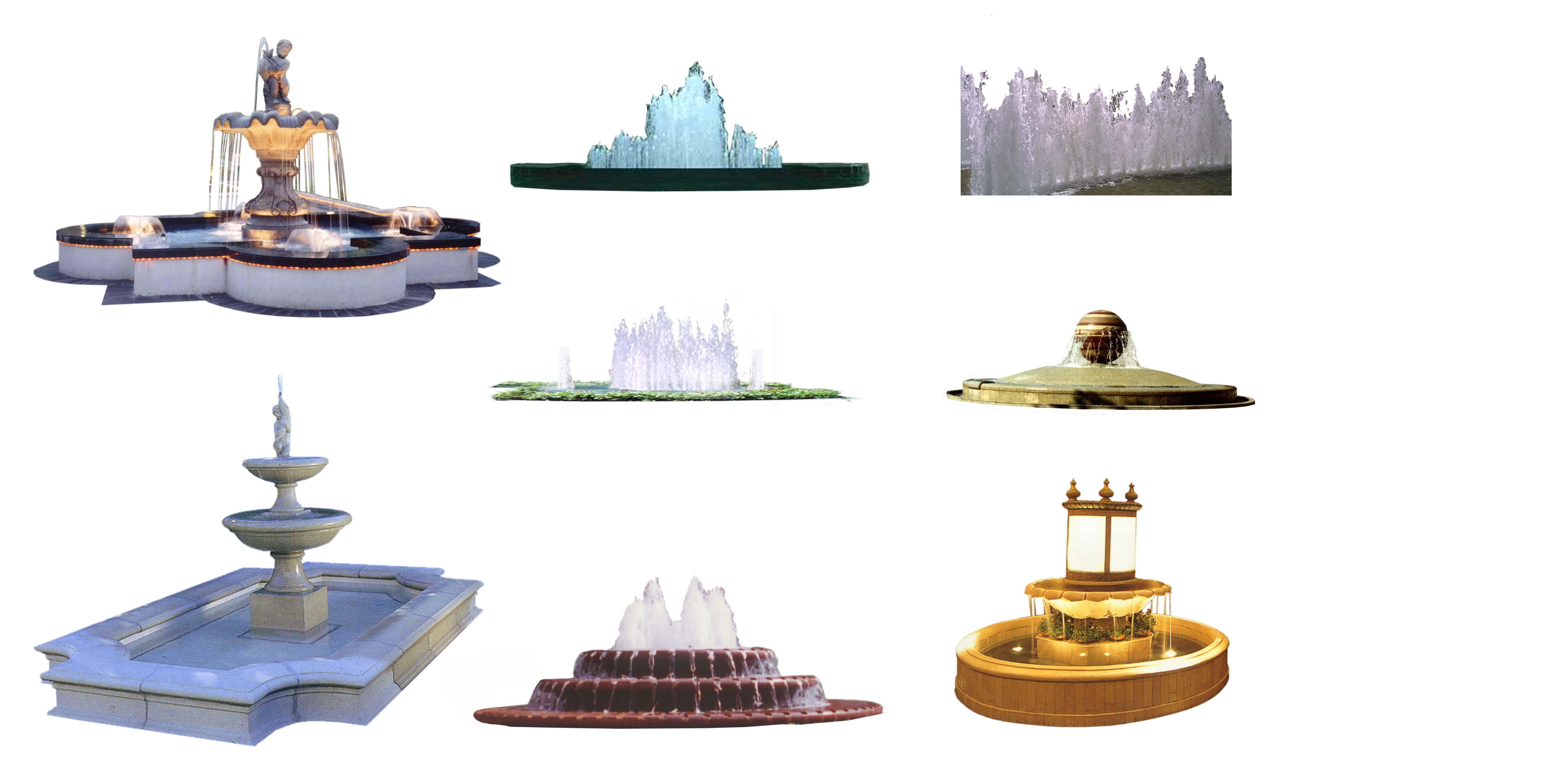 手绘小型喷泉效果图欣赏_手绘小型喷泉效果图相关图片内容