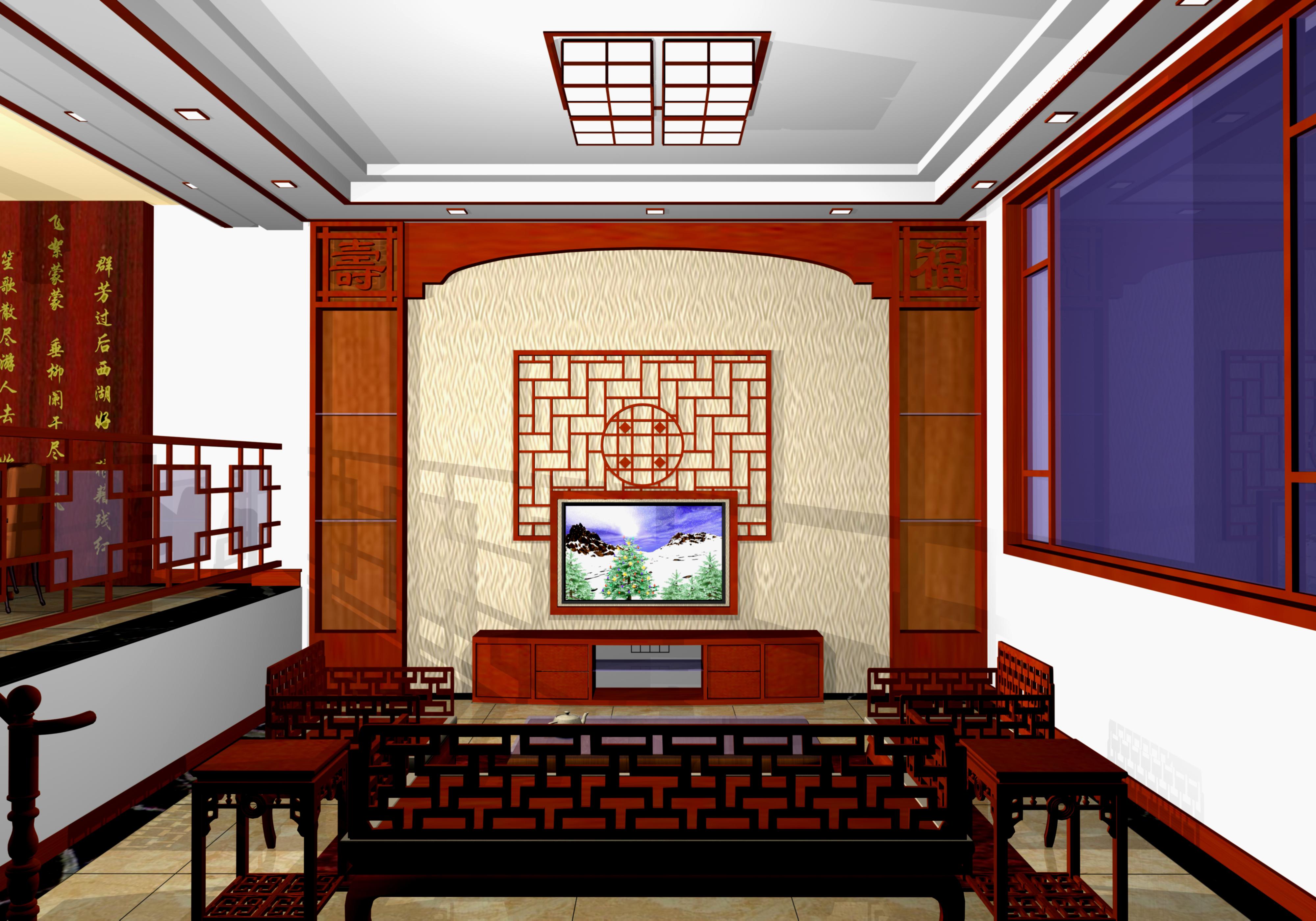 欧式风格家庭客厅电视背景墙装修设计 农村基础设施建设农村公共客厅