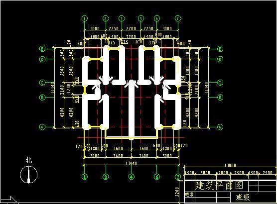 简单建筑平面图_cad图纸下载-土木在线