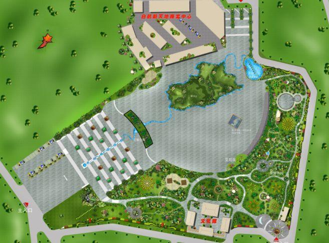 广场设计平面效果图 广场效果图 广场平面手绘效果图 广场设计平面图