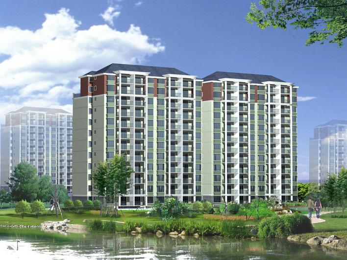 12层小高层住宅-建筑带全套CAD/效果图/3D MAX模型-图1