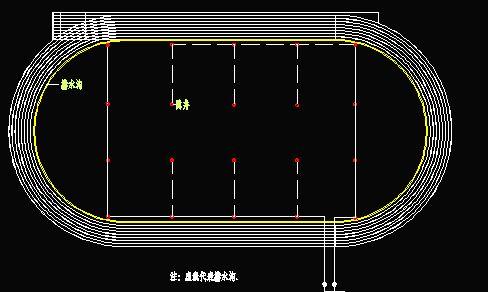 标准足球场平面图 标准足球场图