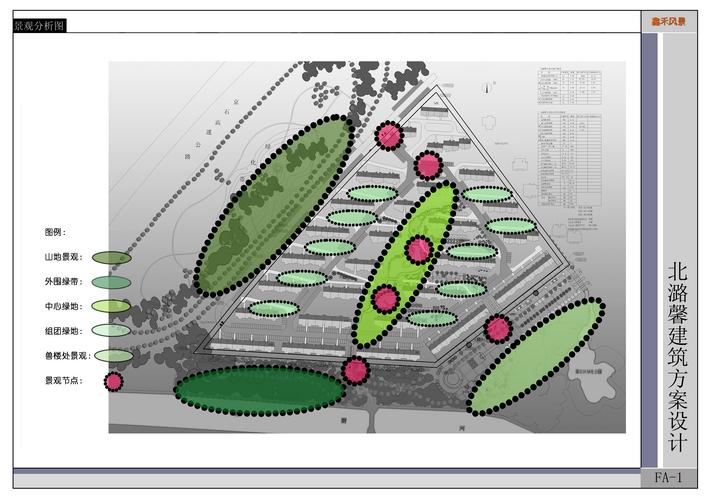景观分析图景观节点分析图建筑景观分析图景观照明