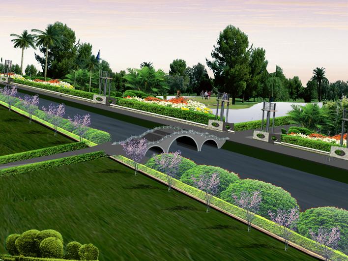 园林手绘平面桥