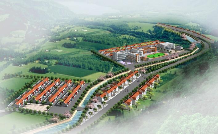 新农村规划效果图高清图片