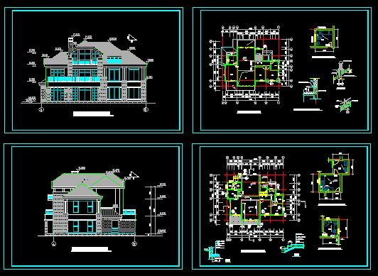 已竣工的别墅施工图