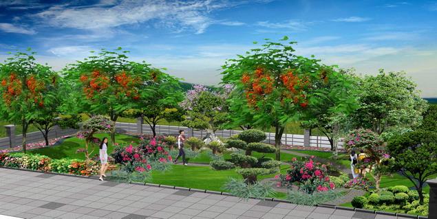 小绿地效果图 相关专题:篮球场地效果图居住区绿地设计效果图花坛效果