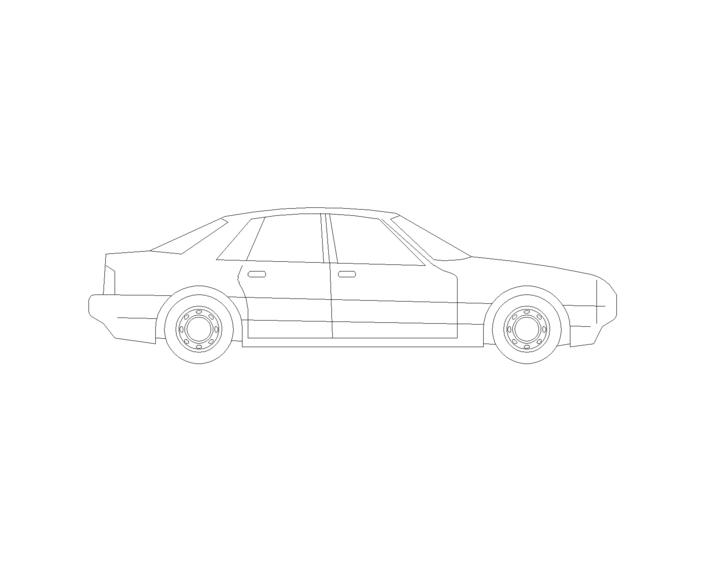 汽车侧面图