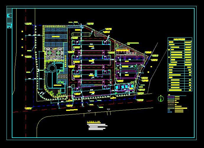 某80亩厂房规划方案图_cad图纸下载-土木在线