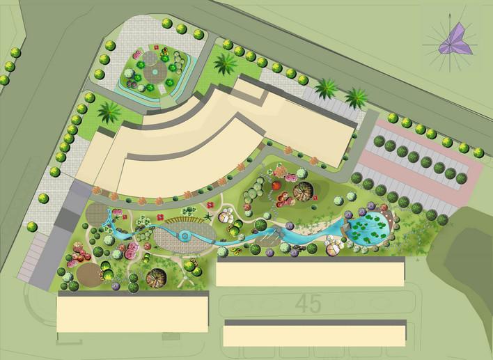 图纸 园林设计图  某酒店景观方案平面彩图    小弟首次传图请多指教!图片