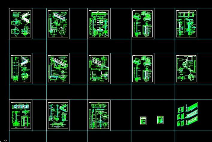 楼梯螺旋梯样式节点大样图