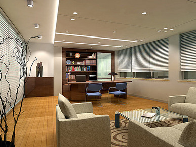 平面天花空调效果图都有 办公室设计 平面加多张透视 室内设计经典