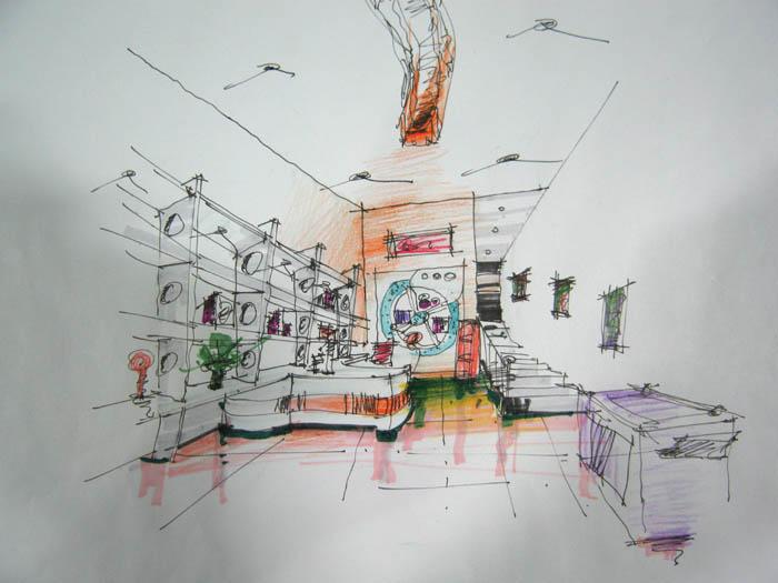 图纸 建筑图纸  室内设计手绘效果图   06年部分手绘作品,  相关专题
