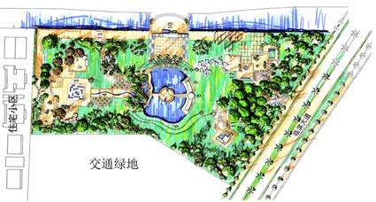 园林设计图 手绘平面图