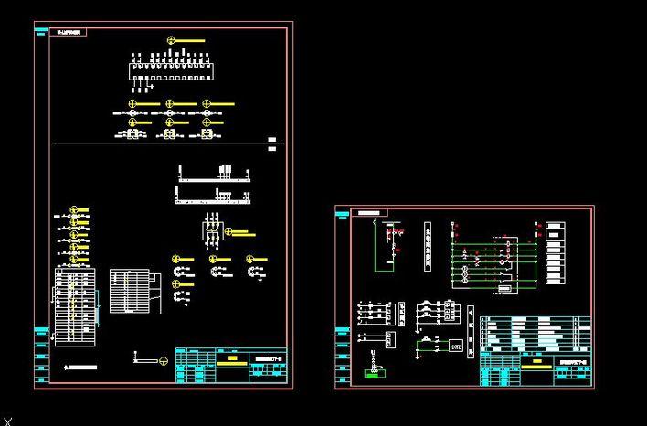 塔吊电气接线原理图; 高压进线柜原理图;