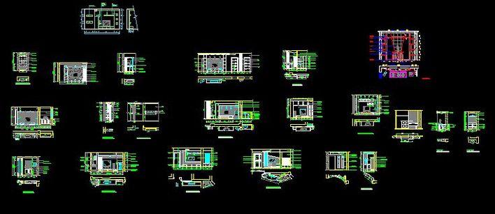 电视背景立面图; 电视机图纸图片;