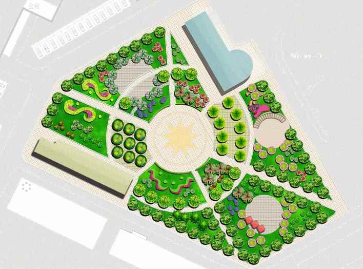 图纸 园林设计图  棚户区游园             棚户区游园平面图