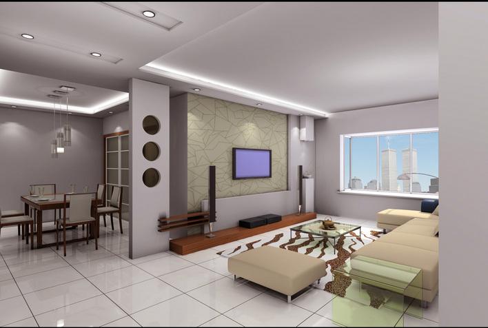 经典餐厅客厅室内效果图 autocad家装装饰装修3d图-客厅 新疆伊犁天百