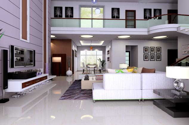 复式小户型家装效果图 家装效果图 复式住宅效果图 家装餐厅设计效果图片