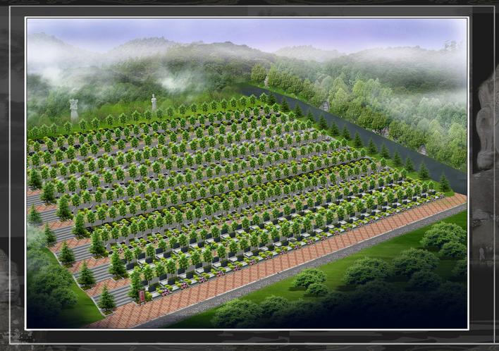 公墓景观设计效果图图片