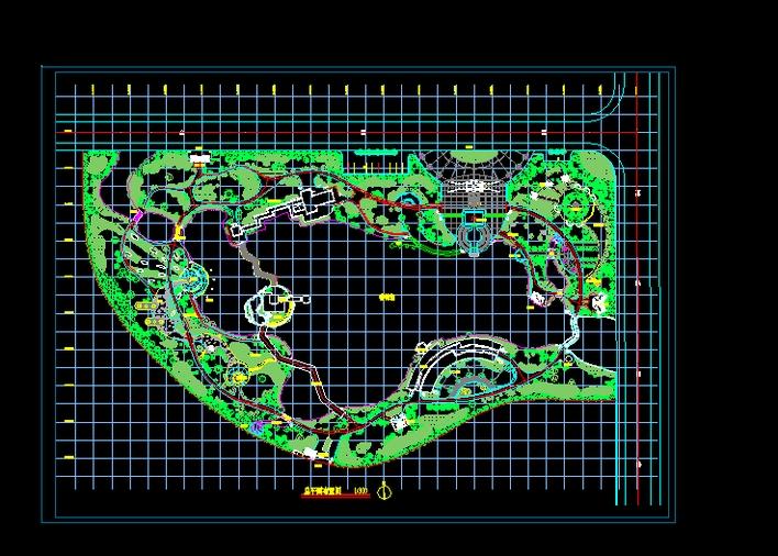 某公园总平面布置图