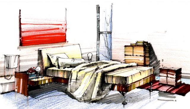 手绘室内设计平面图 室内手绘效果图 咖啡厅室内效果图手绘 相关专题