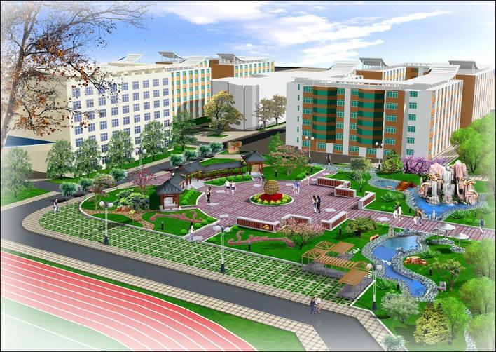 图纸 园林设计图 园林绿化及施工 广场游园绿化设计图 广场规划效果图