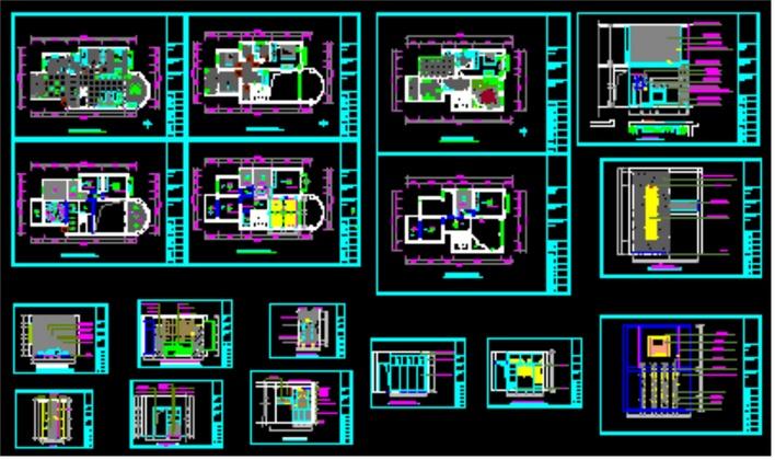 该图纸为四川某装饰公司楼中楼装饰设计图纸,设计合理,内容详尽