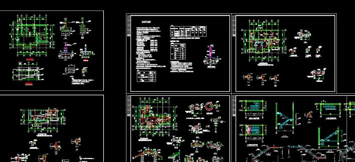 某地区两层砖混结构别墅建筑结构设计施工图