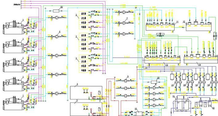 图纸 暖通设计图  制冷机房系统图/原理图    不错的图纸,包含暖通