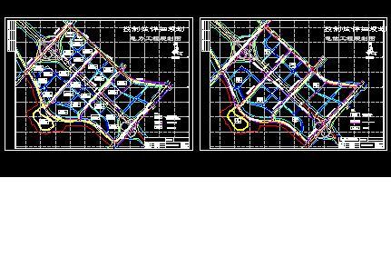 城市电力,通信规划图