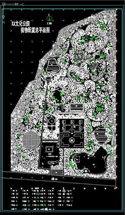 公园植物平面图