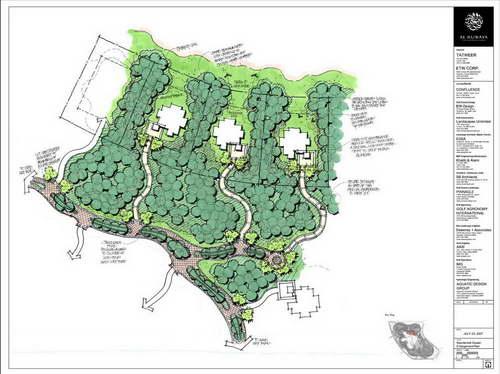 美国edsa高档golf别墅区规划图