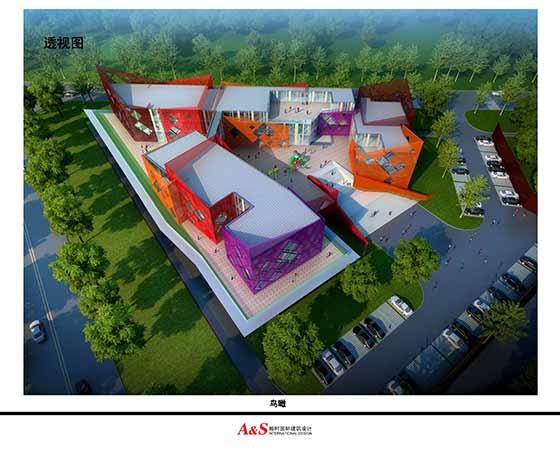 【西安】某现代风格幼儿园建筑设计方案文本 本项目开发原则以孩子为图片