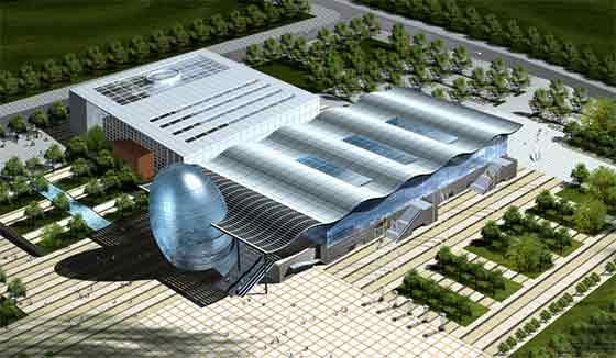 【山东】大型玻璃幕墙会展中心建筑方案文本(含cad)图片