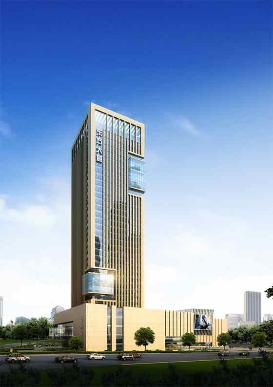 办公楼效果图-35层框剪结构办公楼建筑设计方案文本高清图片